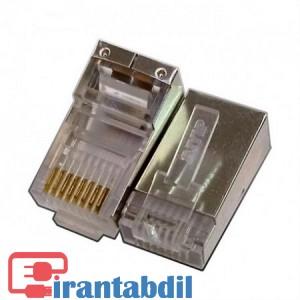 خرید عمده سوکت RJ45 Cat6 SFTP مارک AMP, خرید همکاری سوکت شبکه کت سیکس شانه دار امپ , فروش همکاری سوکت RJ45 Cat6 SFTP مارک AMP