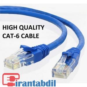 خرید عمده کابل شبکه 15 متری کت سیکس دی نت,فروش آنلاین کابل CAT6 dnet 15m,خرید همکاری پچ کورد شبکه کت 6 پانزده متری دی نت