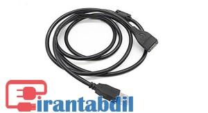 خرید عمده کابل افزایش طول یواس بی 3 متری ایفورت مدل ST-EX3 , فروش همکاری کابل اکستندر USB سه متری, خرید همکاری کابل اکستنش 3 متری ایفورت