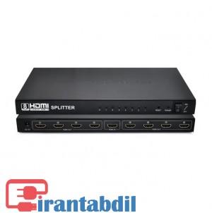اسپلیتر 8 پورت اچ دی ام آی وی نت, تقسیم کننده تصویر 8 پورت, خرید اسپیلیتور HDMI 8 پورت