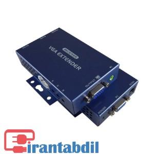 خرید عمده اکستندر VGA 100 متری کی نت پلاس ,افزایش تصویر از کابل شبکه وی جی ای KPE810