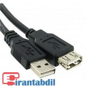 خرید عمده کابل افزایش طول یو اس بی یک نیم متری مارک کی نت,مشخصات فنی کابل افزایش طول شیلدار USB یک ونیم متری برند کی نت,ضدنویز