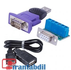 تبدیل یو اس بی به rs485,اتصال یو اس بی به ار اس 485,usb2 to rs422/485 ztek