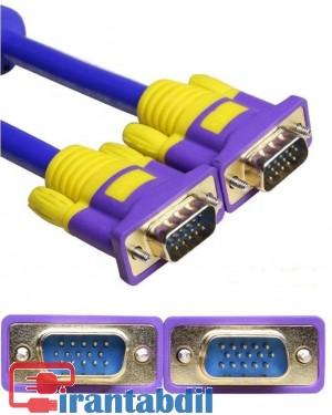 خرید عمده کابل وی جی ای 20 متری9+3 دی نت,فروش عمده کابل XBT,کابل VGA بیست متری دی نت آبی