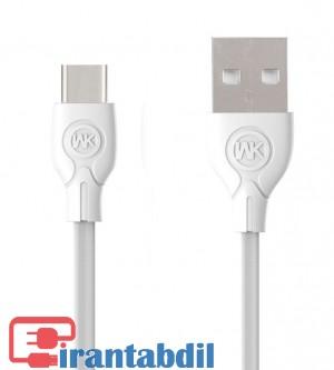 کابل شارژ تایپ سی دبلیو کی ,قیمت عمده کابل شارز تایپ سی, خرید کابل wk typec 023