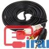 خرید عمده کابل AUX یک به دو  پنج متری , کابل یک به دو صدا 5متری, کابل AUX یک به دو پنج متری