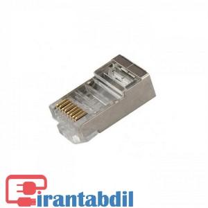 خرید عمده کانکتور شبکه Cat6 فلزی امپ, سوکت شبکه کت سیکس شانه دار امپ , قیمت عمده سوکت شبکه CAT6 SFTP امپ