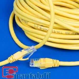 خرید عمده کابل شبکه Cat5e چهل متری دی نت, پچ کورد Cat5e چهل متری دی نت,قیمت همکاری پچ کورد cat5e چهل متری دی نت