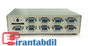 اسپلیتر هشت پورت VGA,اسپلیتر 1 به 8 وی جی ای 250MHZ