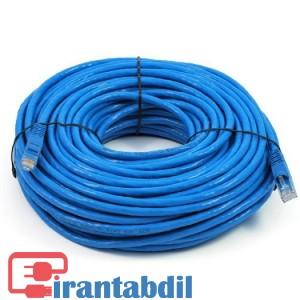 خرید عمده پچ کورد شبکه cat6 ده متری ایفورت , اتصال هاب سوئیچ با پچ پنل< قیمت کابل شبکه Cat6 ده متری ایفورت