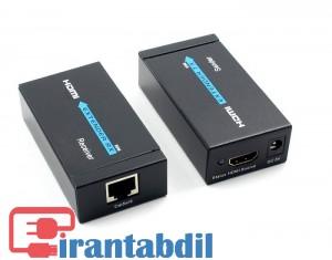 دستگاه افزایش طول HDMI 60 متری از طریق کابل شبکه