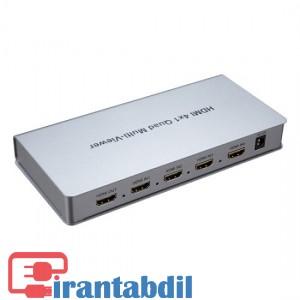 خرید عمده سوییچ HDMI چهار به یک مارک کی نت,نمایش 4 تصویر در یک مانیتور,قیمت کواد 4 به یک کی نت