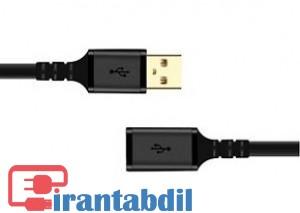 خرید کابل افزایش طول USB2 3 متری کی نت پلاس KP-C4014