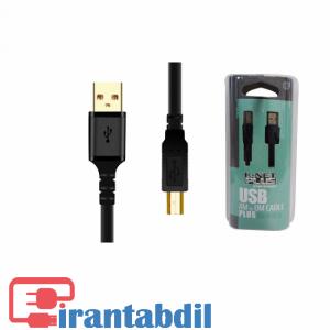 خرید عمده کابل پرینتر شیلدار یک ونیم متری USB2  مارک کی نت پلاس,خریدآنلاین کابل پرینتر تایپ سی یک ونیم متری USB2.0کی نت پلاس,مناسب برای انواع پرینتر