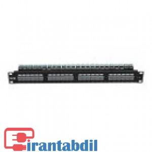 پچ پنل 24 پورت UTP Cat6 چراغ دارمدل KP-N1131 K-Net Plus