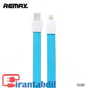 کابل شارژ گوشی آیفون ریمکس آبی رنگ ضخیم,کابل شارژ گوشی ایفون رنگی, خرید عمده کابل شارژ گوشی