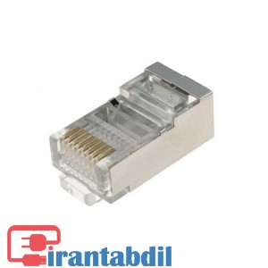 خرید عمده سوکت شبکه RJ45 وی نت فلزی , مشخصات سوکت شبکه Cat6 , کانکتور شبکه کته سیکس SFTP V-Net