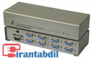 قیمت اسپلیتر VGA 8 پورت مارک V-Net ,تقصیم کننده تصویر 8 پورت وی جی ای,  قیمت عمده اسپلیتر وی جی ای