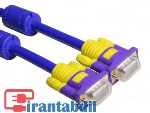 کابل ضخیم مانیتور 3+9 1.5متری,کابل VGA با کیفیت آبی