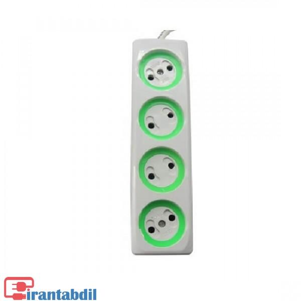 خرید عمده رابط برق چهار پورت 2متری بدون کلید , خرید همکاری رابط برق چهار پورت 2متری بدون کلید  , فروش همکاری رابط برق چهار خونه دو متری یدون کلید