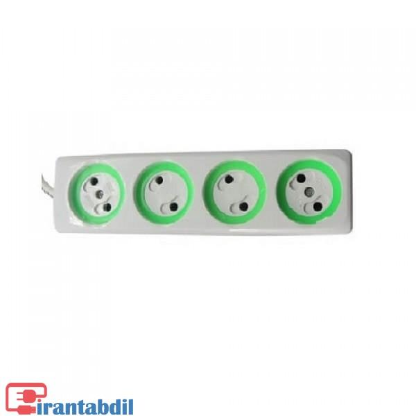 خرید عمده رابط برق چهار خانه دو متری بدون کلید , خرید رابط برق چهار خونه بدون کلید, رابط برق چهار خانه دو متری