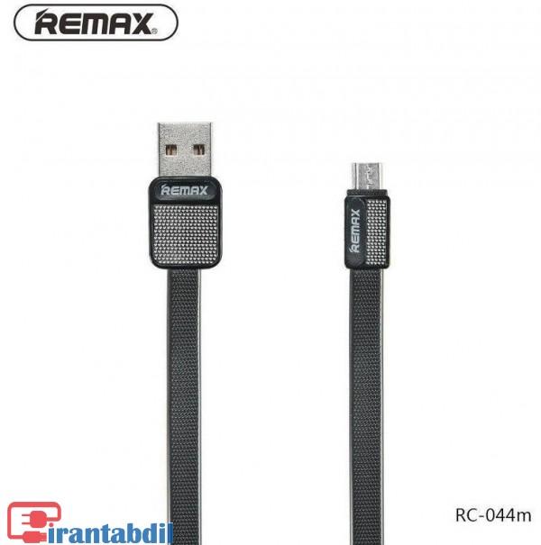 کابل شارژ فلت مشکی ریمکس,کابل گوشی میکرو USB ریمکس 044,کابل اندروید تخت مشکی ژله ای