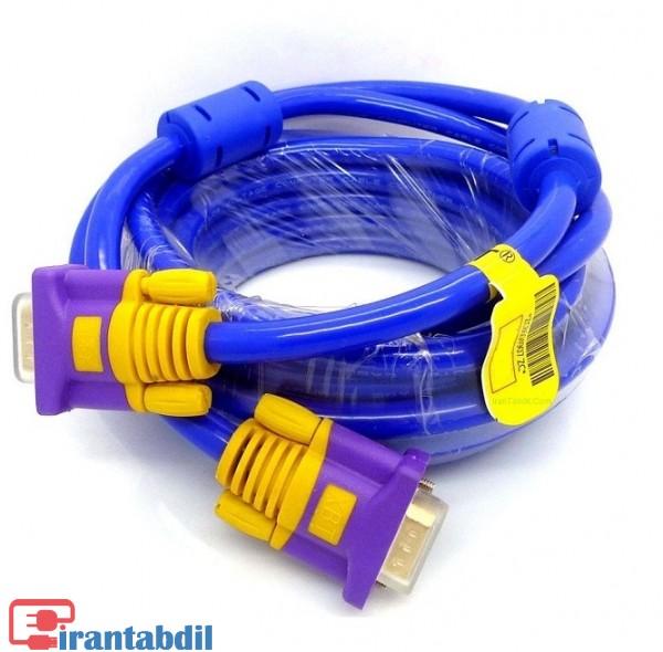 خرید عمده کابل وی جی ای آبی دی نت پانزده متری,فروش همکاری کابل ضخیم VGA بدون نویز,انتقال تصویر با آر جی بی 15 متری
