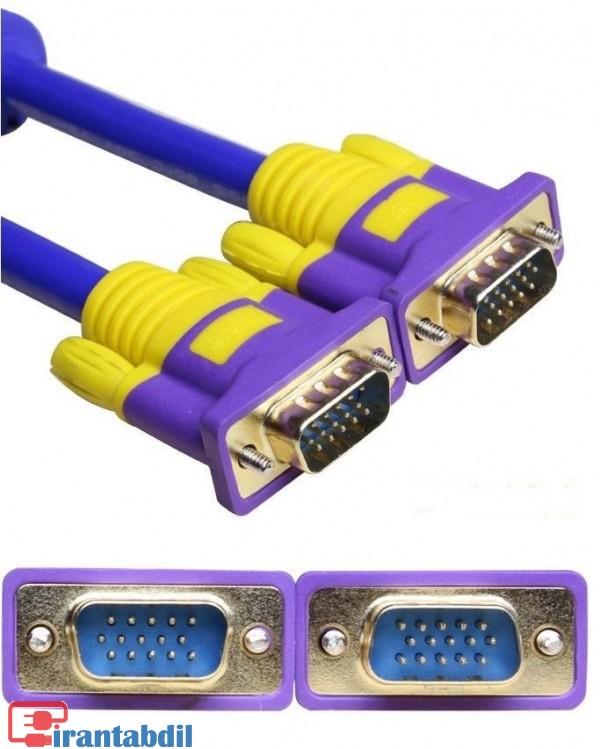 کابل وی جی ای 5 متری,فروش عمده کابل XBT,کابل VGA پنج متری دی نت آبی