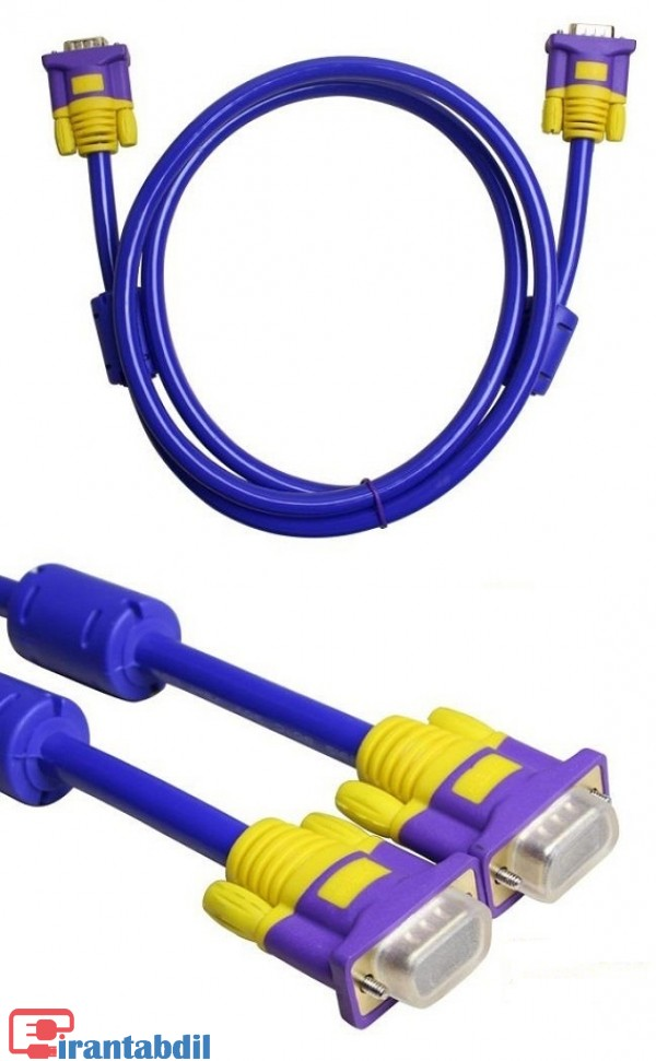 کابل VGA XBT 5 متری,فروش عمده کابل وی جی ای,کابل وی جی ای پنج متری دی نت آبی